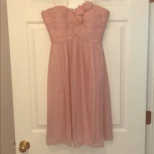 Light Pink Strapless Donna Morgan Dress